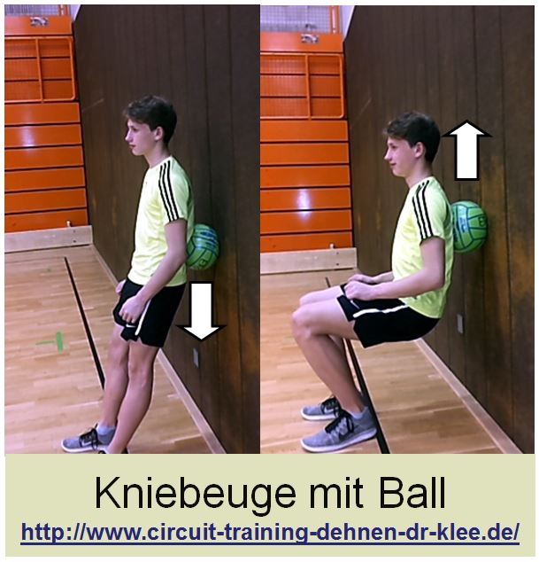 Circuit Training Übung Kniebeuge mit Ball